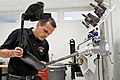 Ryan Blanck, a prosthetist and creator of the Intrepid Dynamic Exoskeletal Orthosis brace, 2011.jpg