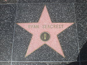 Ryan Seacrest's star on the Hollywood Walk of Fame