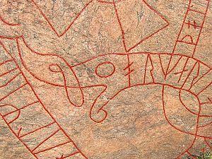 Södermanland Runic Inscription 109 - Image: Sö109 Drake