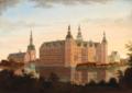 Søren Henrik Petersen - En tidlig sommeraften ved Frederiksborg Slot.png