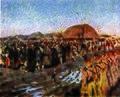 S. V. Ivanov. Unrest in a village (1889).jpg