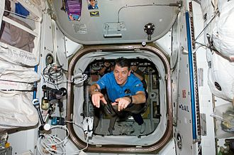 Paolo Nespoli - STS-120 mission specialist Paolo Nespoli in the International Space Station.