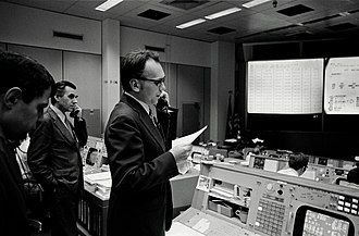 Luboš Kohoutek - Dr. Kohoutek at NASA Johnson Space Center mission control center during Skylab 4 mission talking with the astronauts on board about the Comet Kohoutek observations