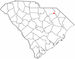 Location of Society Hill, South Carolina