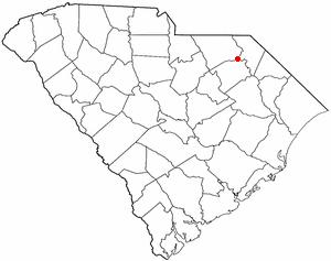 Society Hill, South Carolina - Image: SC Map doton Society Hill