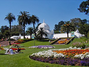 Gardening - Conservatory of Flowers in Golden Gate Park, San Francisco
