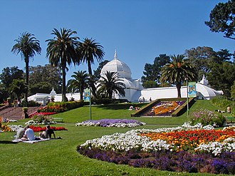 Gardening - Conservatory of Flowers in Golden Gate Park, San Francisco