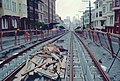 SF cable car track reconstruction work on Hyde St north of Clay, July 1983.jpg