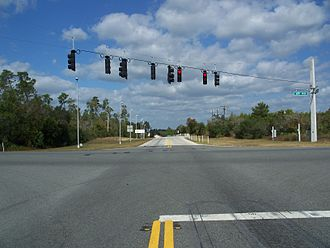 Florida State Road 19 - Looking north across the SR 40 intersection