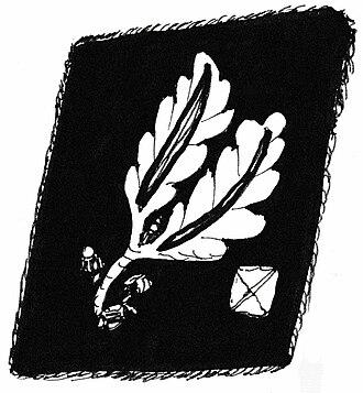 Brigadeführer - Gorget patch until April 1942 (Allgemeine SS and Waffen-SS)