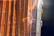 STS-116 solar panel jam