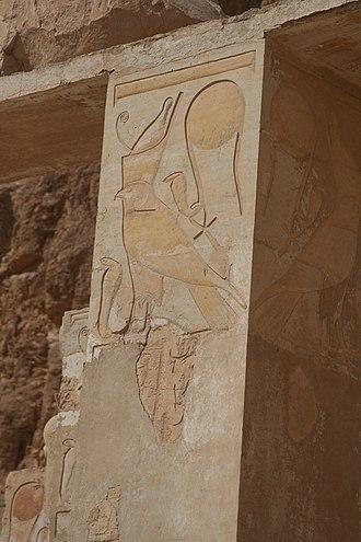Sky (hieroglyph) - Image: S F E CAMERON Hatshepsut Hawk