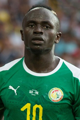 Sadio Mané - Mané playing for Senegal at the 2018 FIFA World Cup