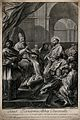 Saint Bernard. Engraving by J. Frey, 1743, after C. Maratta. Wellcome V0033425.jpg