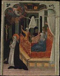 Saint Catherine of Siena Beseeching Christ to Resuscitate Her Mother MET DP366038.jpg