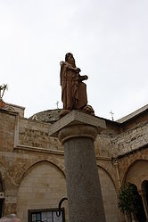 Saint Jerome statue in Church of Saint Catherine courtyard 2.jpg