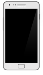 The Samsung Galaxy S II showing the home screen