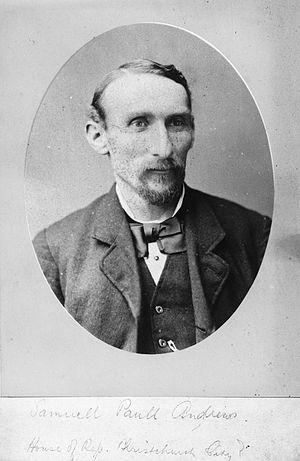 Samuel Paull Andrews - Samuel Paull Andrews, circa 1875