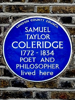 Samuel taylor coleridge 1772 1834 poet and philosopher lived here