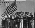 San Francisco, California. Flag of allegiance pledge at Raphael Weill Public School, Geary and Buch . . . - NARA - 536053.tif