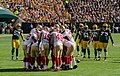 San Francisco 49ers huddle - San Francisco vs Green Bay 2012.jpg