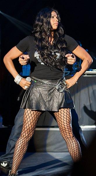 Pepa (rapper) - Pepa performing with Salt-N-Pepa at the Canberra Theatre, Australia in 2013.