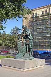 The young Peter the Great learns shipbuilding in Zaandam