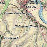 Sanocka und Olchowska Posada bei Sanok Franzisco-Josephinische Landesaufnahme (1806-1869).jpg