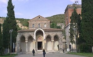 Sant'Angelo in Formis - Façade of the abbey.