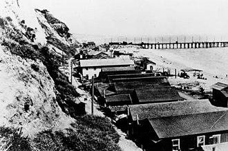Long Wharf (Santa Monica) - Long Wharf in Santa Monica, 1900