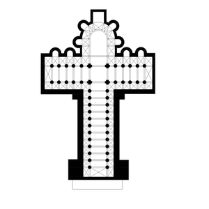 Planta de una iglesia románica