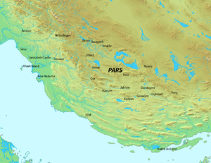 Pars (Sasanian province) - Map of Pars