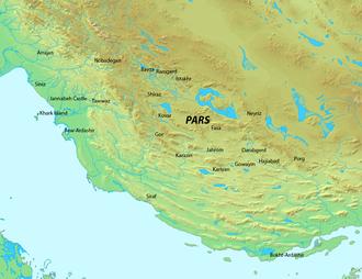 Pars (Sasanian province) - Map of Pars