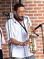 Saxophonist Playing - Downtown Memphis - Tennessee - USA - 01.jpg