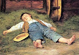 Schlafender Knabe im Heu, 1897