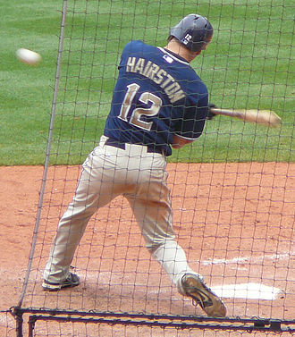 Scott Hairston - Hairston with the San Diego Padres in 2008