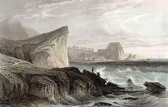 Charybdis - A 19th-century engraving of the Strait of Messina, the site associated with Scylla and Charybdis