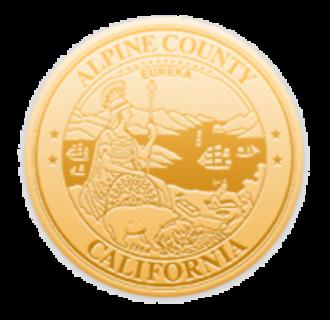 Alpine County, California - Image: Seal of Alpine County, California