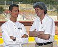 Sebastian Stahl und Manager Ingo Iserhardt, MotorLive, Mugello.jpg