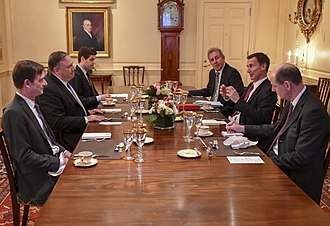 Kim Darroch - Ambassador Darroch and Foreign Secretary Jeremy Hunt (right) meet with Secretary of State Mike Pompeo in January 2019