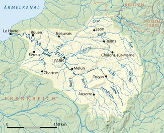 Verlauf und Einzugsgebiet der Seine
