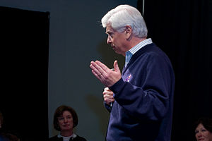 Chris Dodd presidential campaign, 2008 - Dodd speaks at a Town Hall in Dover, New Hampshire