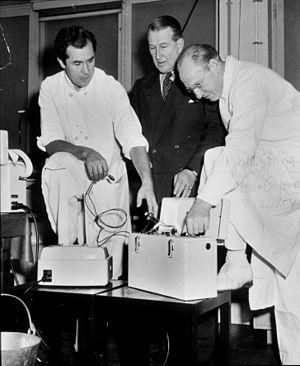 Åke Senning - Image: Senning, Elmqvist & Crafoord 1954