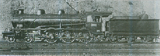 Sentetsu Tehoi-class locomotive - Gyeongbu Ry locomotive 303 after assembly at the railway's Busan shops in 1906.