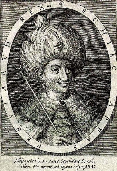 Shah Abbas I engraving by Dominicus Custos