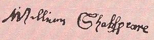 William Shakespeare's signature