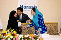 Sheikha Lubna greeting Farzana Raja, at the 2011 Horasis Global Arab Business Meeting - Flickr - Horasis.jpg