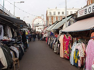 Shepherd's Bush Market - Shepherd's Bush Market, looking north