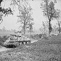Sherman tanks advance during the assault on the Gustav Line at Cassino, Italy, 15 May 1944. NA14899.jpg
