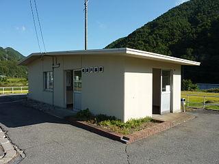 Shinano-Kawashima Station railway station in Tatsuno, Kamiina district, Nagano prefecture, Japan